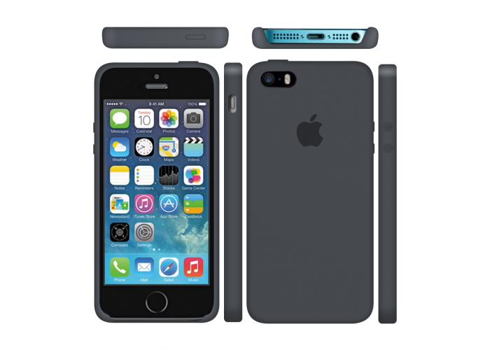 Силиконовый чехол Apple Silicone Case Charcoal Gray для iPhone 5/5s/SE