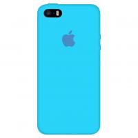 Силиконовый чехол Apple Silicone Case Blue для iPhone 5/5s/SE