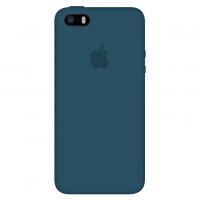Силиконовый чехол Apple Silicone Case Cosmos Blue для iPhone 5/5s/SE