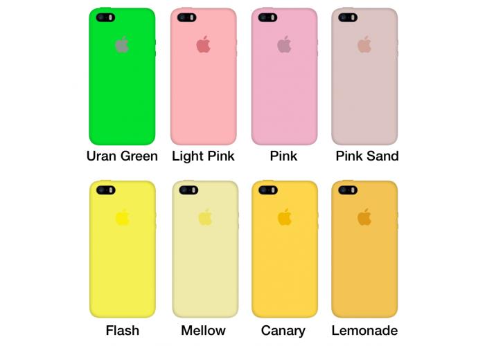Силиконовый чехол Apple Silicone Case Rose Red для iPhone 5/5s/SE