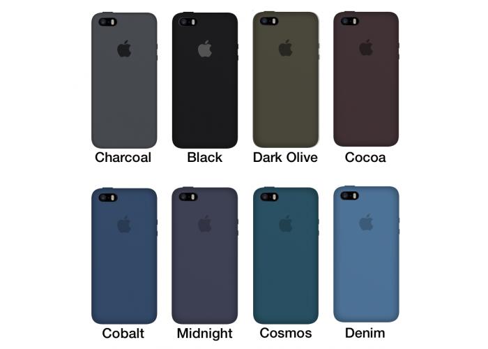 Силиконовый чехол Apple Silicone Case Cocoa для iPhone 5/5s/SE (Реплика)