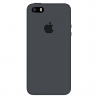 Силиконовый чехол Apple Silicone Case Charcoal Gray для iPhone 5/5s/SE