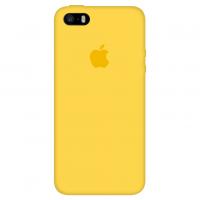 Силиконовый чехол Apple Silicone Case Canary Yellow для iPhone 5/5s/SE