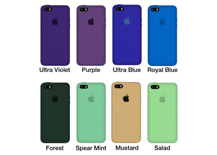Силиконовый чехол Apple Silicone Case Black для iPhone 5/5s/SE