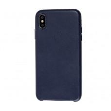 "Чехол Leather Classic ""Midnight Blue"" для iPhone X/Xs"