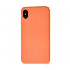 """Чехол Leather Classic """"Orange"""" для iPhone X/Xs"""