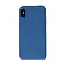"Чехол Leather Classic ""Star Blue"" для iPhone Xs Max"