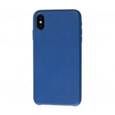 "Чехол Leather Classic ""Cobalt Blue"" для iPhone X/Xs"