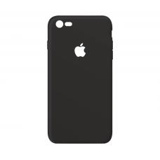 Тонкий чехол-накладка для iPhone 7/8 с вырезом под яблоко Черный