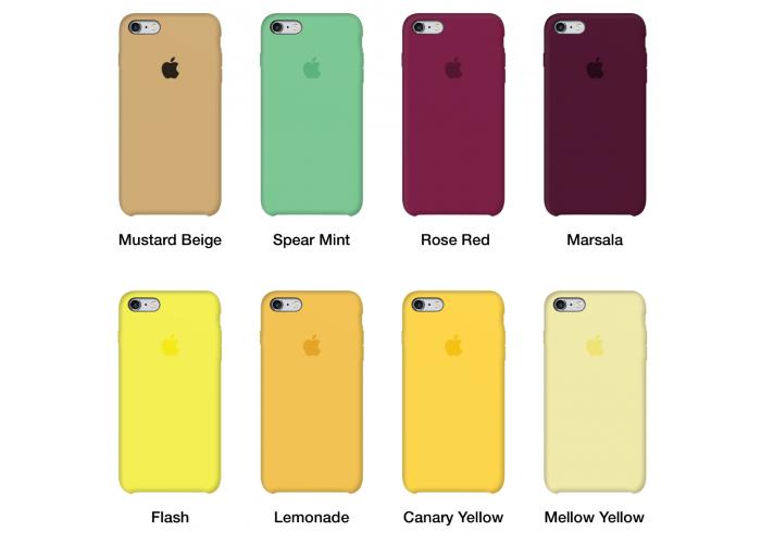 Силиконовый чехол Apple Silicone Case White для iPhone 6/6s (копия)