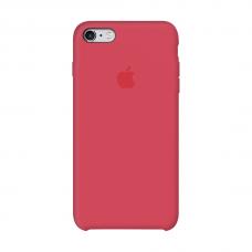 Силиконовый чехол Apple Silicone case Red Raspbery для iPhone 6/6s (копия)