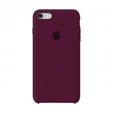 Силиконовый чехол Apple Silicone Case Marsala для iPhone 6/6s