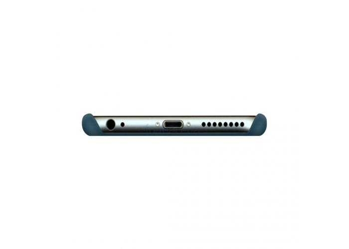 Силиконовый чехол Apple Silicone Case Cosmos Blue (Зелено-синий) для iPhone 6/6s (копия)