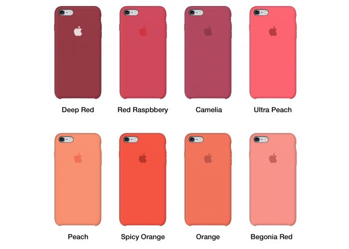 Силиконовый чехол Apple Silicone Case Begonia Red для iPhone 6/6s (копия)
