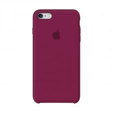 Силиконовый чехол Apple Silicon Case Rose Red для iPhone 6/6s (копия)