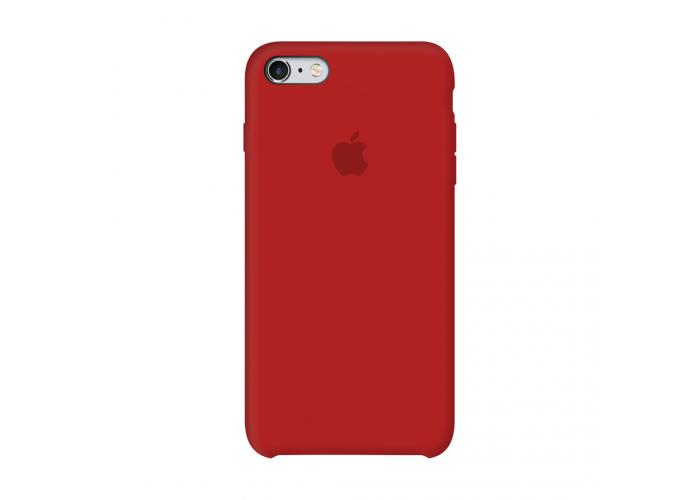 Силиконовый чехол Apple Silicon Case Red для iPhone 6/6s (копия)
