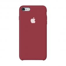 Силиконовый чехол Apple Silicon Case Dark Red для iPhone 6/6s (копия)
