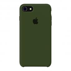 Силиконовый чехол Apple Silicone Case Virid (Темно-зеленый) для iPhone 7/8