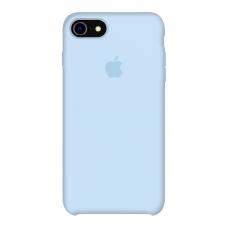 Силиконовый чехол Apple Silicone Case Sky Blue для iPhone 7/8 (копия)