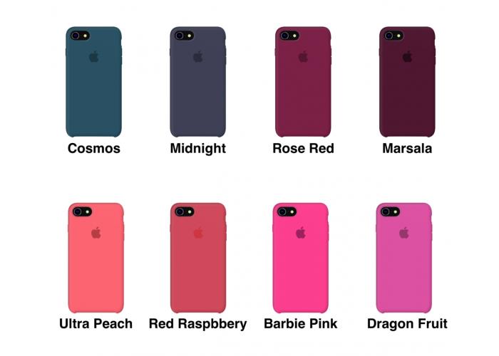 Силиконовый чехол Apple Silicone Case Red Raspberry для iPhone 7/8 (копия)