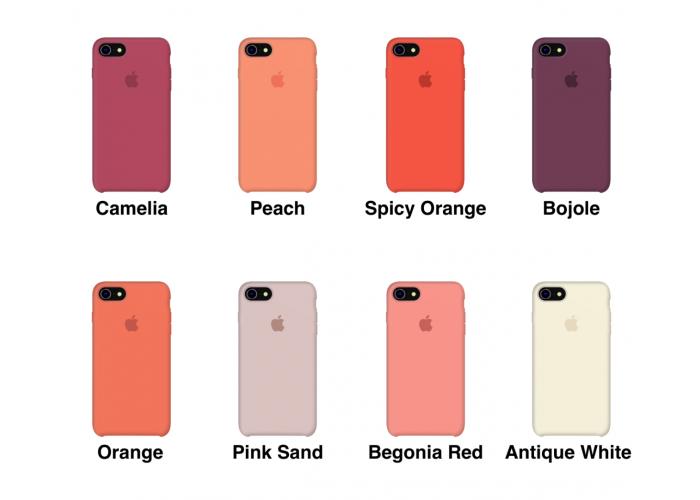 Силиконовый чехол Apple Silicone Case Pebble для iPhone 7/8 (копия)
