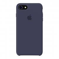 Силиконовый чехол Apple Silicone Case Midnight Blue для iPhone 7/8 (копия)