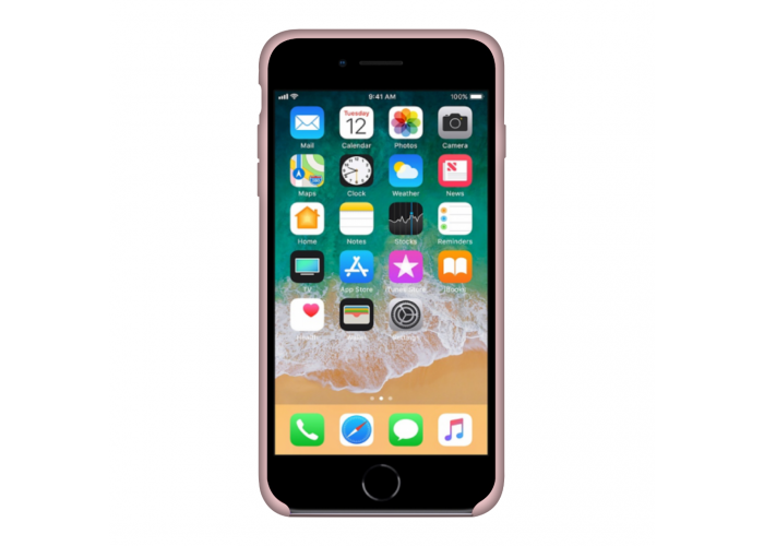 Силиконовый чехол Apple Silicone Case Light Pink для iPhone 7/8 (копия)