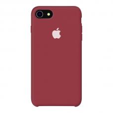 Силиконовый чехол Apple Silicone Case Dark Red для iPhone 7/8 (копия)