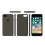 Силиконовый чехол Apple Silicone Case Dark Olive для iPhone 7/8 (копия)