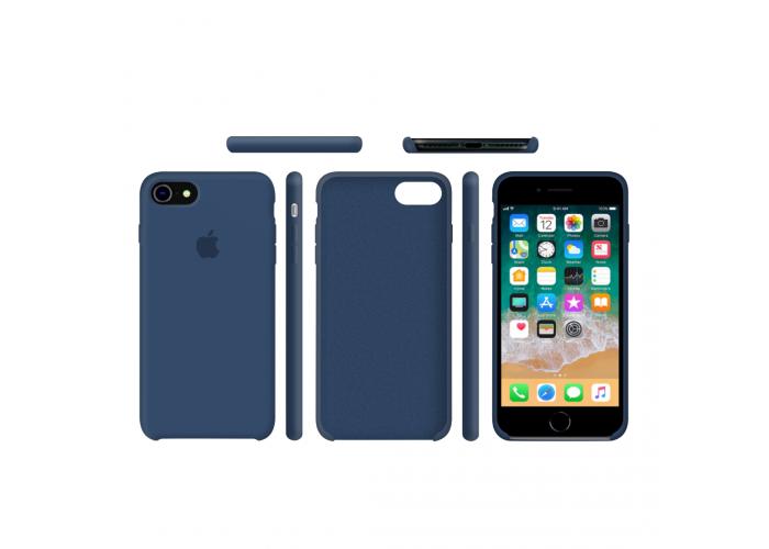 Силиконовый чехол Apple Silicone Case Blue Cobalt для iPhone 7/8 (копия)
