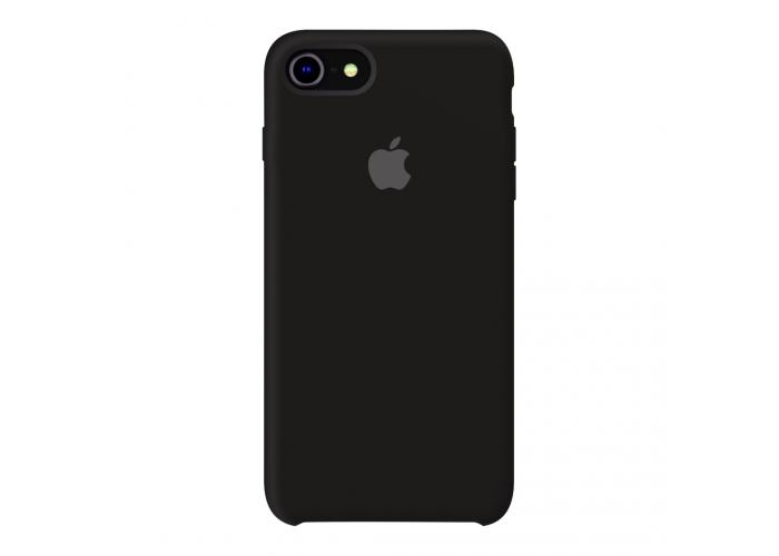Силиконовый чехол Apple Silicone Case Black для iPhone 7/8 (копия)