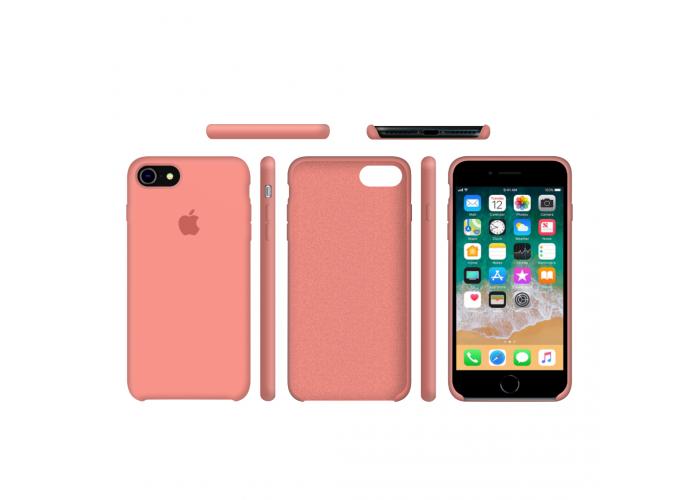 Силиконовый чехол Apple Silicone Case Begonia Red (Персиковый) на iPhone 7/8  (Реплика)