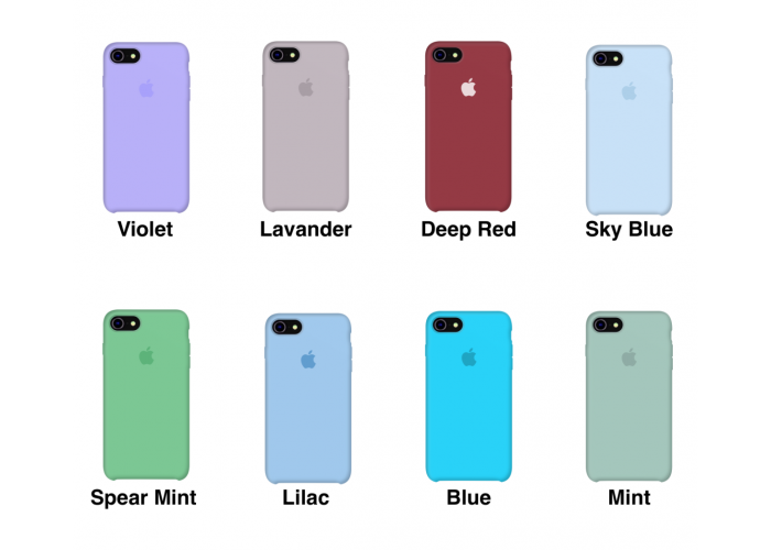 Силиконовый чехол Apple Silicon Case Sea Blue (бирюзовый) для iPhone 7/8 (копия)