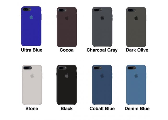 Силиконовый чехол Apple Silicone Case Denim Blue для iPhone 7 plus/8 plus (Реплика)