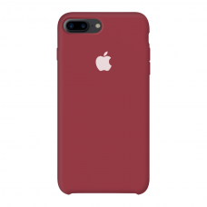 Силиконовый чехол Apple Silicone Case Dark Red для iPhone 7 Plus / 8 Plus (копия)