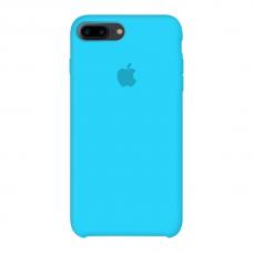 Силиконовый чехол Apple Silicone Case Blue для iPhone 7 Plus / 8 Plus (копия)
