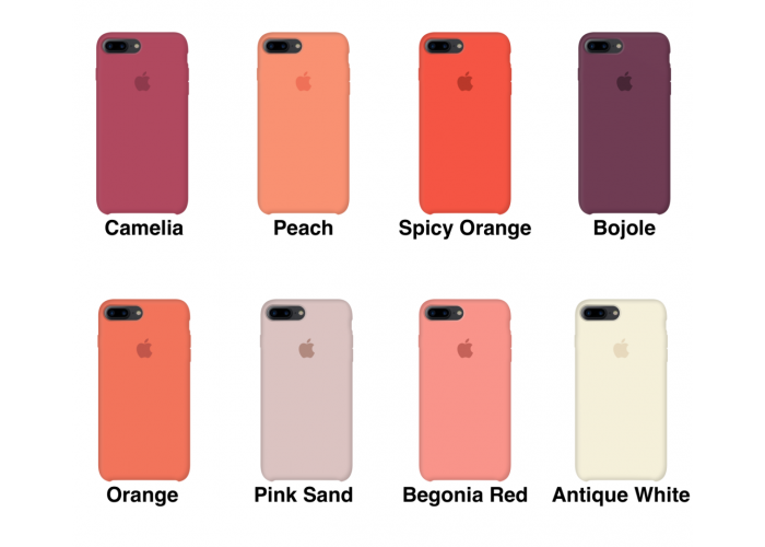 Силиконовый чехол Apple Silicone Case Black для iPhone 7 plus/8 plus (Реплика)