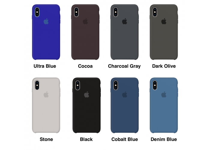 Силиконовый чехол Apple Silicone Case Virid (Темно-зеленый) для iPhone X / Xs