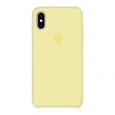 Силиконовый чехол Apple Silicone Case Mellow Yellow для iPhone Х/Xs