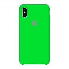 Силиконовый чехол Apple Silicone Case Uran Green для iPhone X /10/Xs (копия)