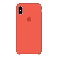 Силиконовый чехол Apple Silicone Case Spicy Orange для iPhone X / Xs (копия)