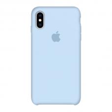 Силиконовый чехол Apple Silicone Case Sky Blue для iPhone X /10/Xs (копия)