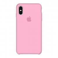 Силиконовый чехол Apple Silicone Case Pink (розовый) для iPhone X /10 Xs/10s  (копия)