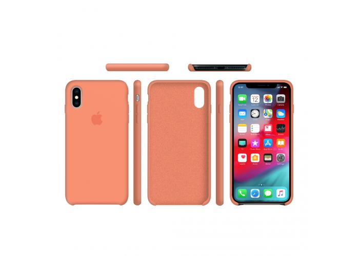 Силиконовый чехол Apple Silicone Case Peach для iPhone X /10 Xs/10s (копия)