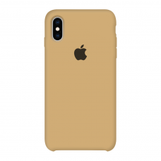 Силиконовый чехол Apple Silicone Case Mustard Beige для iPhone X /10/Xs (копия)