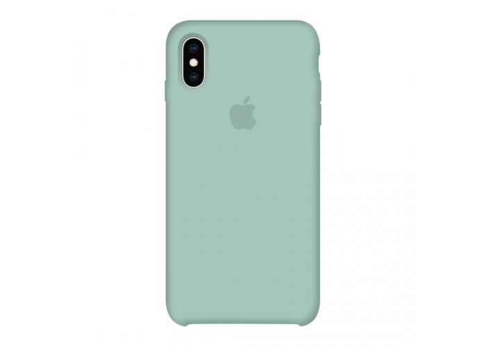 Силиконовый чехол Apple Silicone Case Mint для iPhone X /10 Xs/10s (копия)