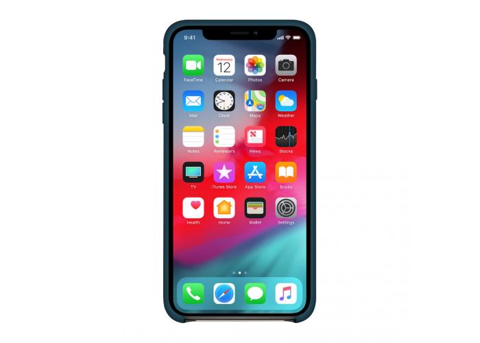Силиконовый чехол Apple Silicone Case Midnight Blue (темно-синий) для iPhone X /10/Xs/10s (копия)
