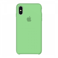 Силиконовый чехол Apple Silicone Case Green для iPhone X /10/Xs (копия)