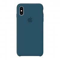 Силиконовый чехол Apple Silicone Case Cosmos Blue для iPhone X /10 Xs/10s (копия)