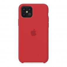Силиконовый чехол Apple Silicone Case Red для iPhone 12